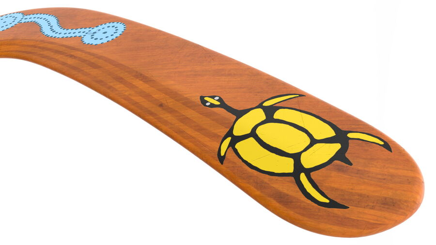 Ethno Turtle Wooden Boomerang royalty-free 3d model - Preview no. 11