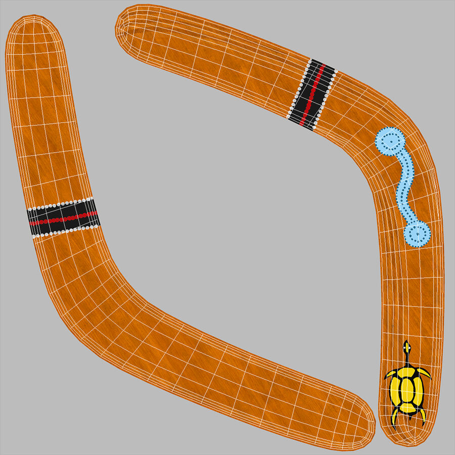 Ethno Turtle Wooden Boomerang royalty-free 3d model - Preview no. 17