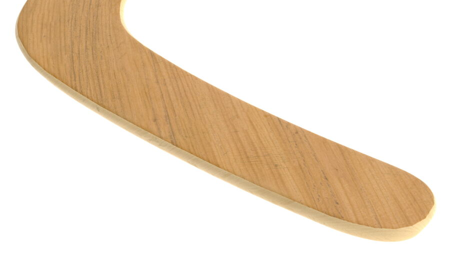 Heavy Wooden Boomerang royalty-free 3d model - Preview no. 9