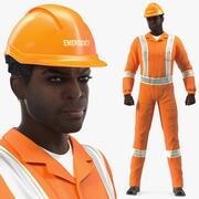 アフリカ系アメリカ人の災害救助者 3d model