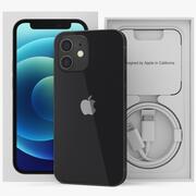 iPhone 12 mini nero senza confezione 3d model