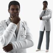 アフリカ系アメリカ人男性医師 3d model