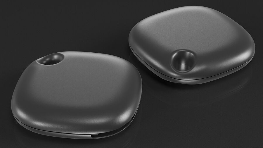 Bluetooth Tracker Black royalty-free 3d model - Preview no. 7