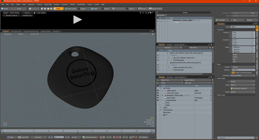Bluetooth Tracker Black royalty-free 3d model - Preview no. 25