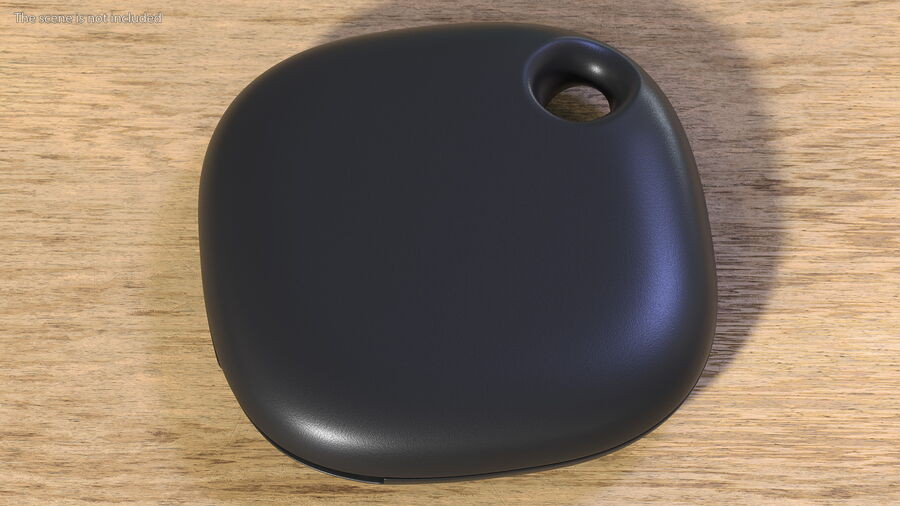 Bluetooth Tracker Black royalty-free 3d model - Preview no. 3