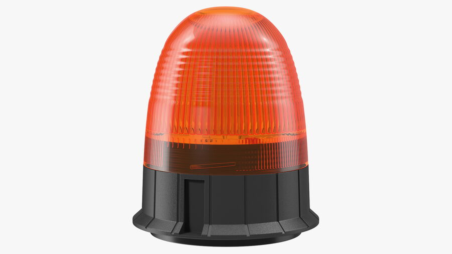 Magnetic Orange Flashing Beacon Light royalty-free 3d model - Preview no. 2