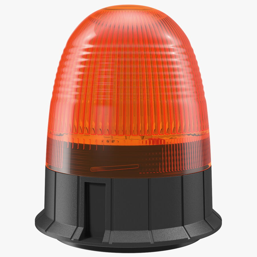 Magnetic Orange Flashing Beacon Light royalty-free 3d model - Preview no. 1
