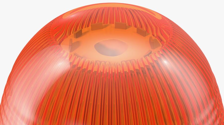 Magnetic Orange Flashing Beacon Light royalty-free 3d model - Preview no. 11