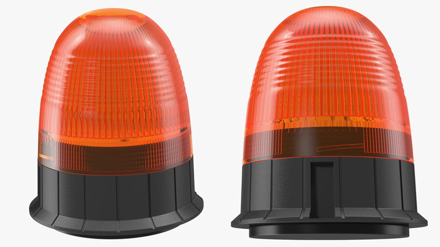 Magnetic Orange Flashing Beacon Light royalty-free 3d model - Preview no. 7