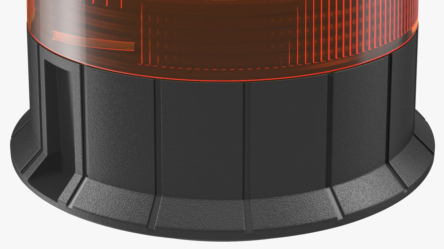 Magnetic Orange Flashing Beacon Light royalty-free 3d model - Preview no. 10