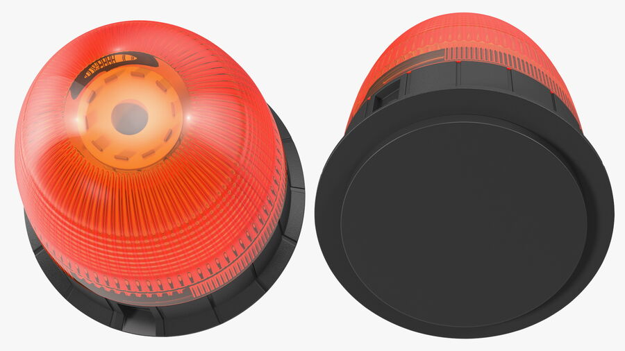 Magnetic Orange Flashing Beacon Light royalty-free 3d model - Preview no. 8