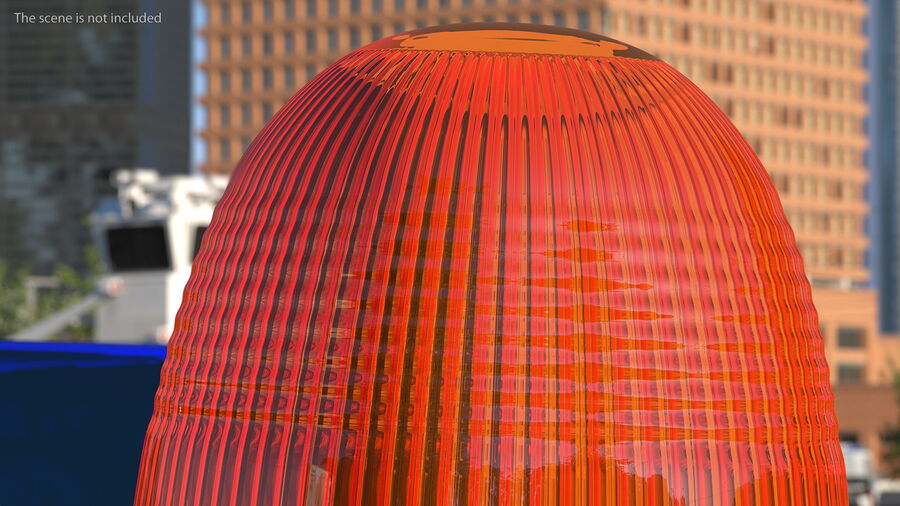 Magnetic Orange Flashing Beacon Light royalty-free 3d model - Preview no. 5