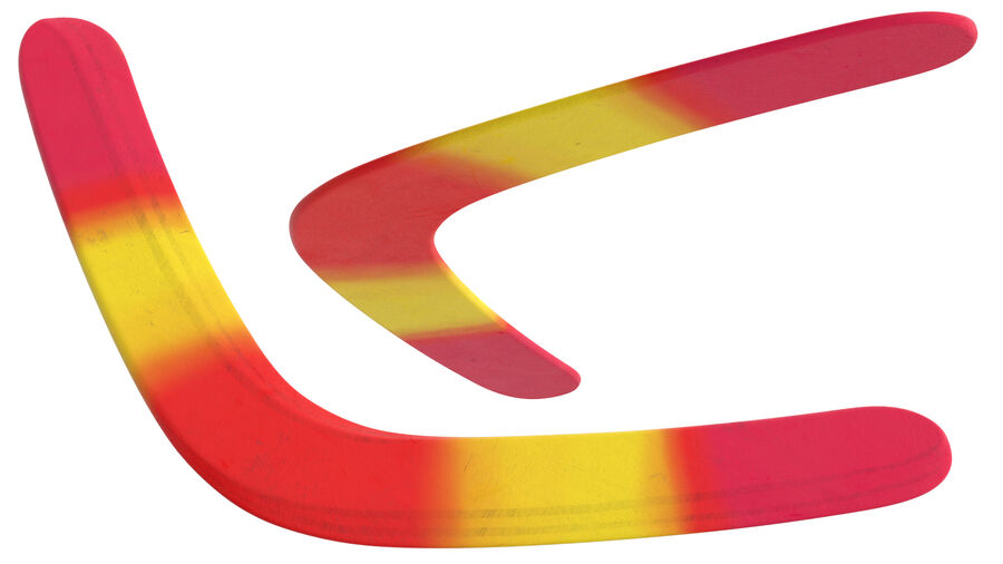 Multicolor Wooden Boomerang royalty-free 3d model - Preview no. 5