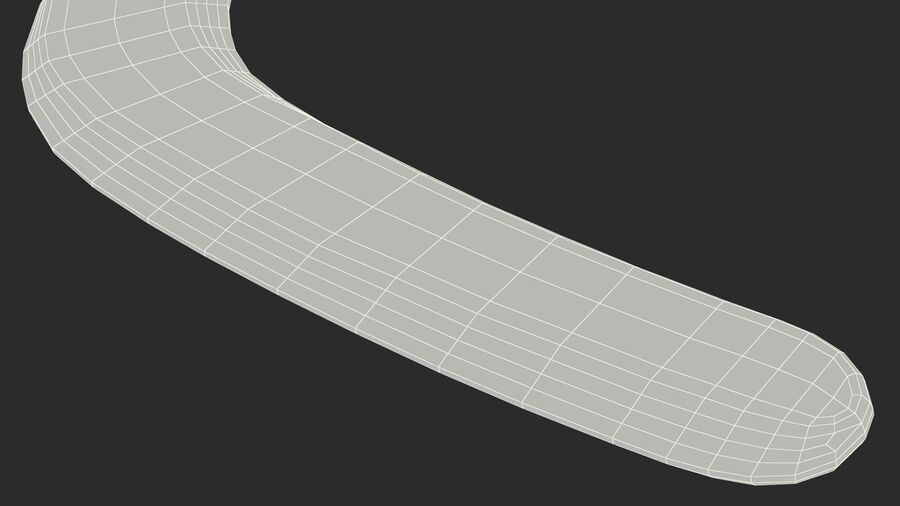 Multicolor Wooden Boomerang royalty-free 3d model - Preview no. 24