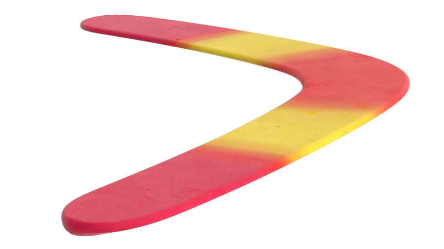 Multicolor Wooden Boomerang royalty-free 3d model - Preview no. 8