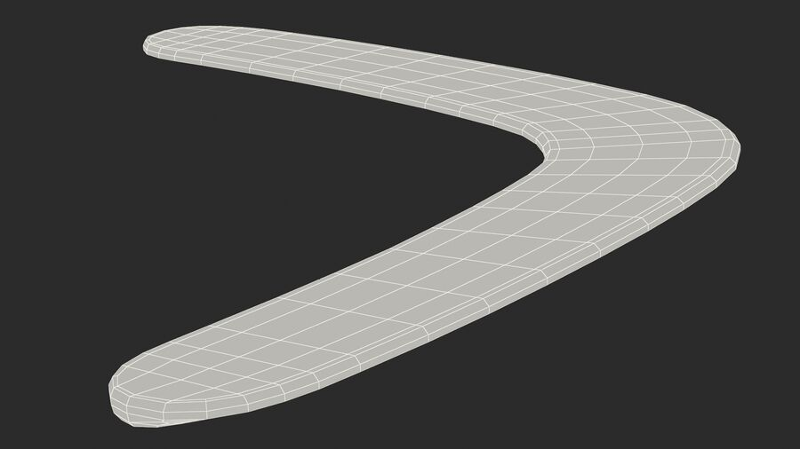 Multicolor Wooden Boomerang royalty-free 3d model - Preview no. 20