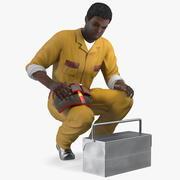アフリカ系アメリカ人の錠前屋 3d model