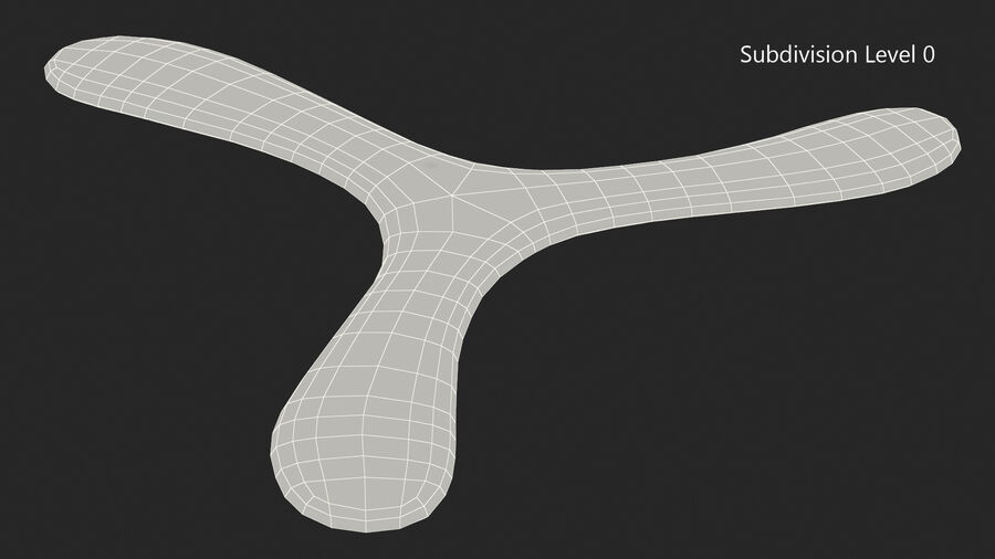Three Winged Boomerang royalty-free 3d model - Preview no. 12