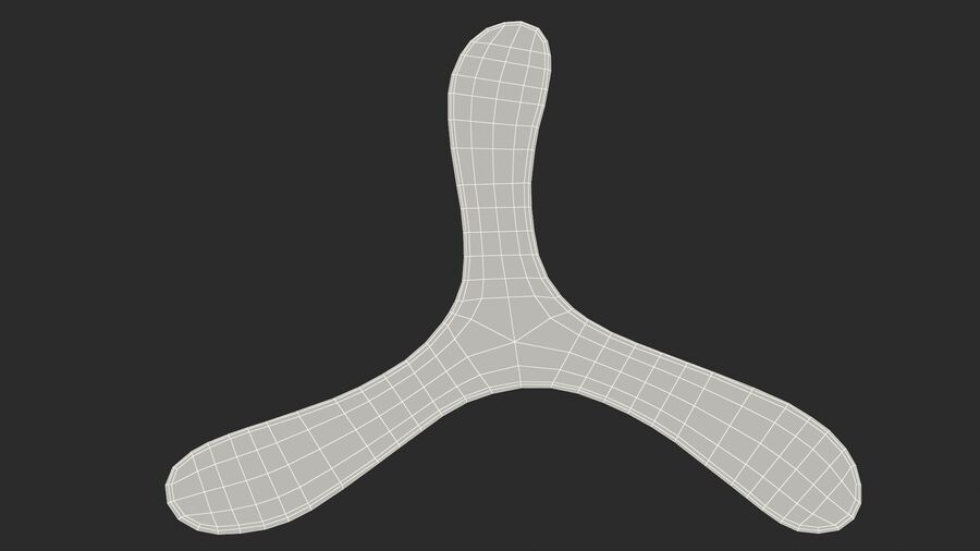 Three Winged Boomerang royalty-free 3d model - Preview no. 22