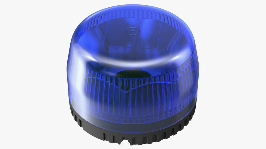 Blue Emergency Flashing Beacon royalty-free 3d model - Preview no. 2