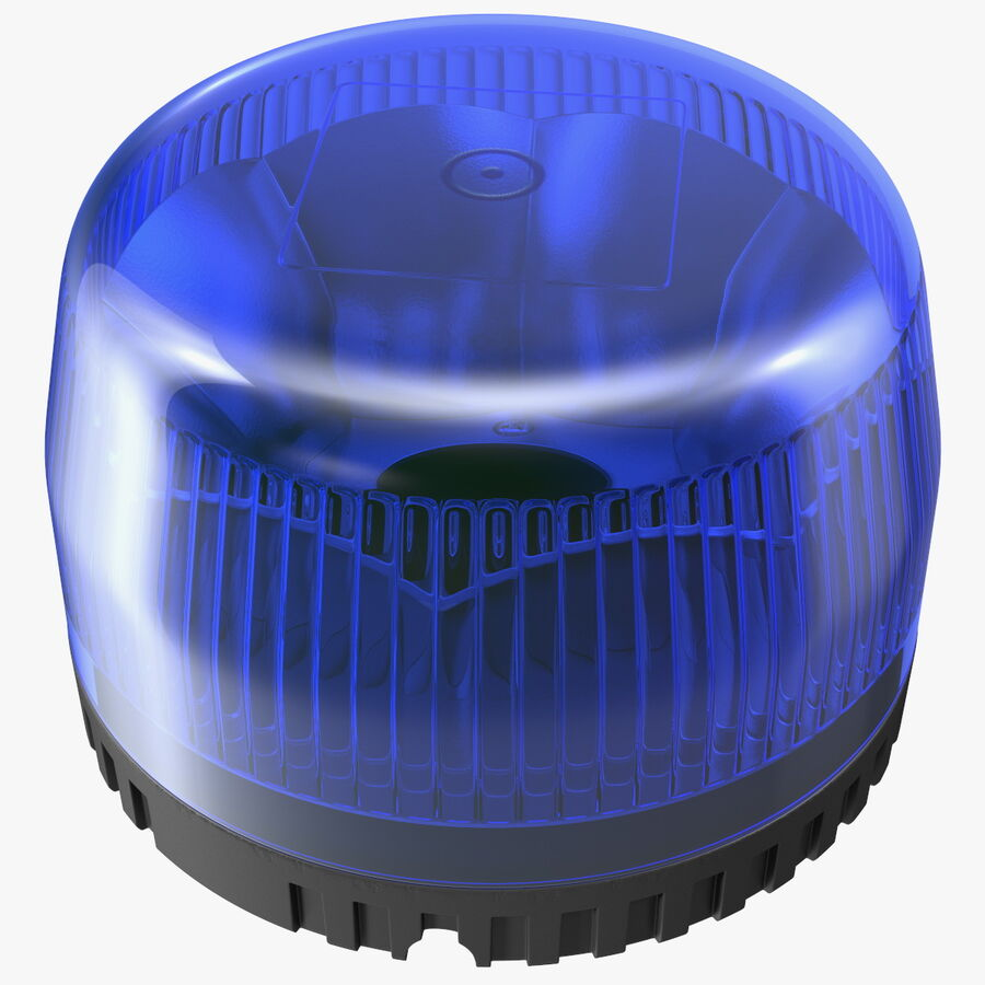 Blue Emergency Flashing Beacon royalty-free 3d model - Preview no. 1