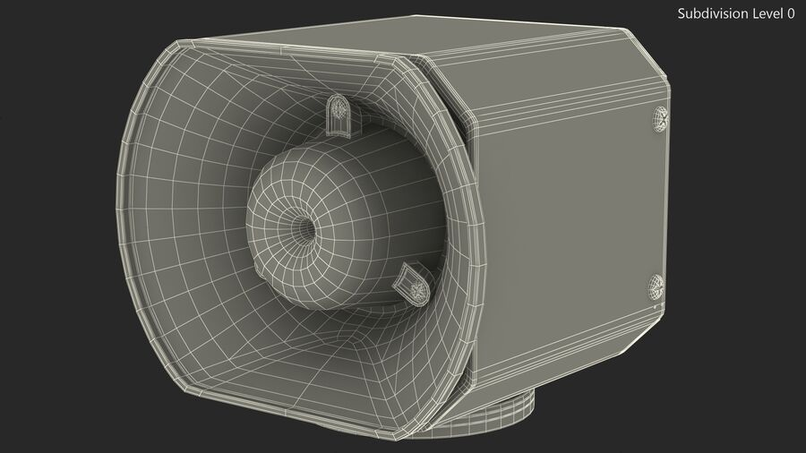 Emergency Vehicle Siren Speaker royalty-free 3d model - Preview no. 14