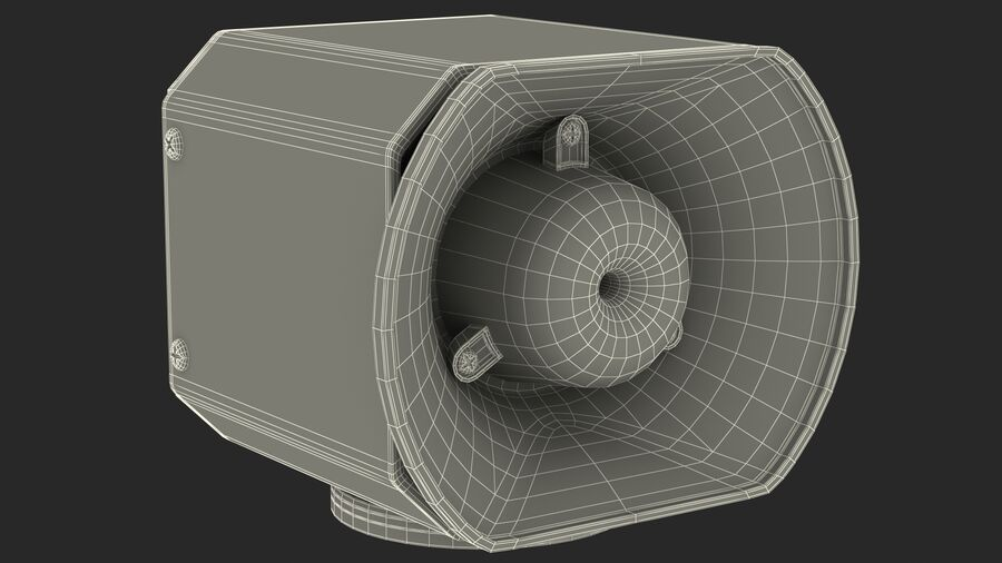 Emergency Vehicle Siren Speaker royalty-free 3d model - Preview no. 23