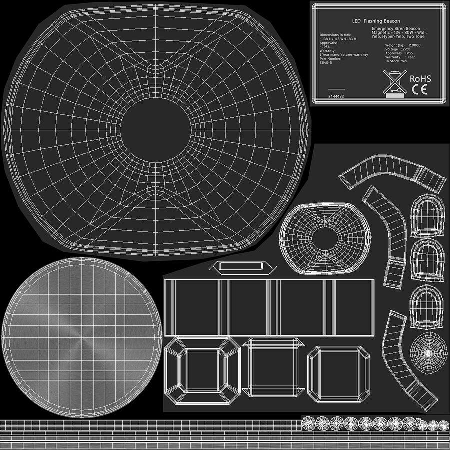 Emergency Vehicle Siren Speaker royalty-free 3d model - Preview no. 16