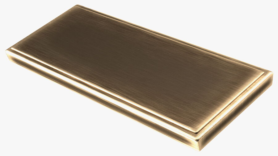 Rectangular Brass Bell Push royalty-free 3d model - Preview no. 12