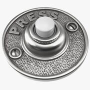 Vintage Round Doorbell Button Silver 3d model
