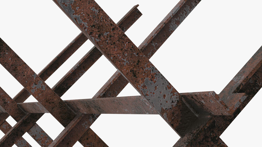 Makeshift Metal Barricade Old royalty-free 3d model - Preview no. 14