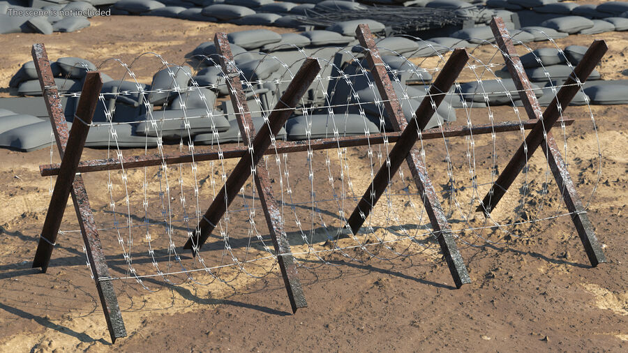 Makeshift Metal Barricade Old royalty-free 3d model - Preview no. 3