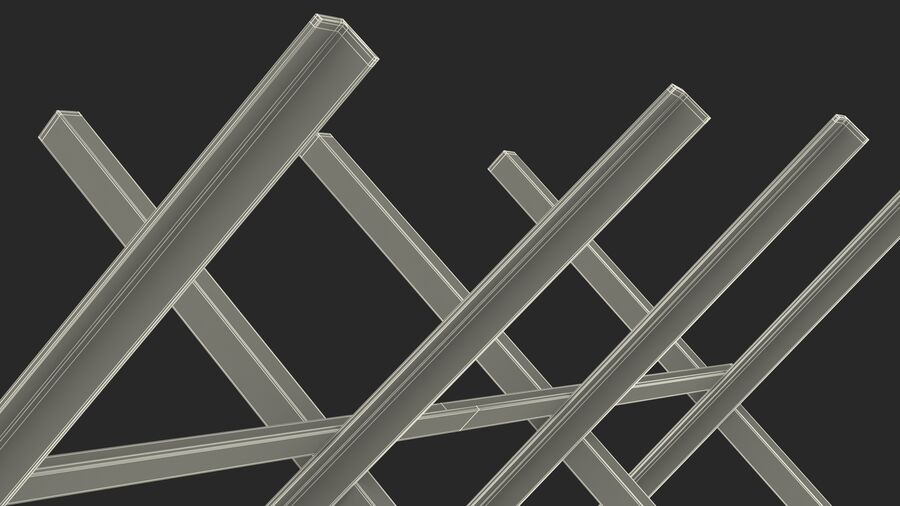 Makeshift Metal Barricade Old royalty-free 3d model - Preview no. 28