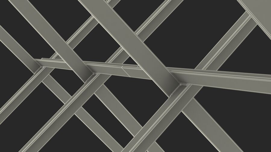 Makeshift Metal Barricade Old royalty-free 3d model - Preview no. 32