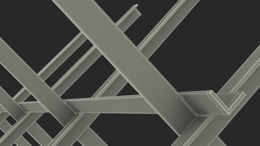 Makeshift Metal Barricade Old royalty-free 3d model - Preview no. 31
