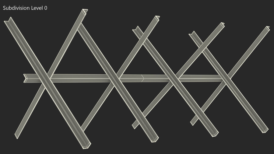 Makeshift Metal Barricade Old royalty-free 3d model - Preview no. 18