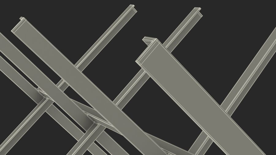 Makeshift Metal Barricade Old royalty-free 3d model - Preview no. 29