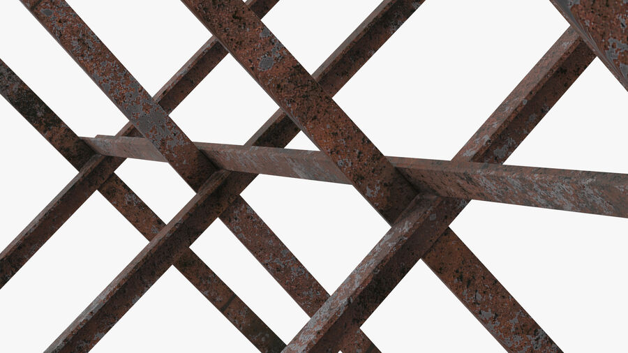 Makeshift Metal Barricade Old royalty-free 3d model - Preview no. 15