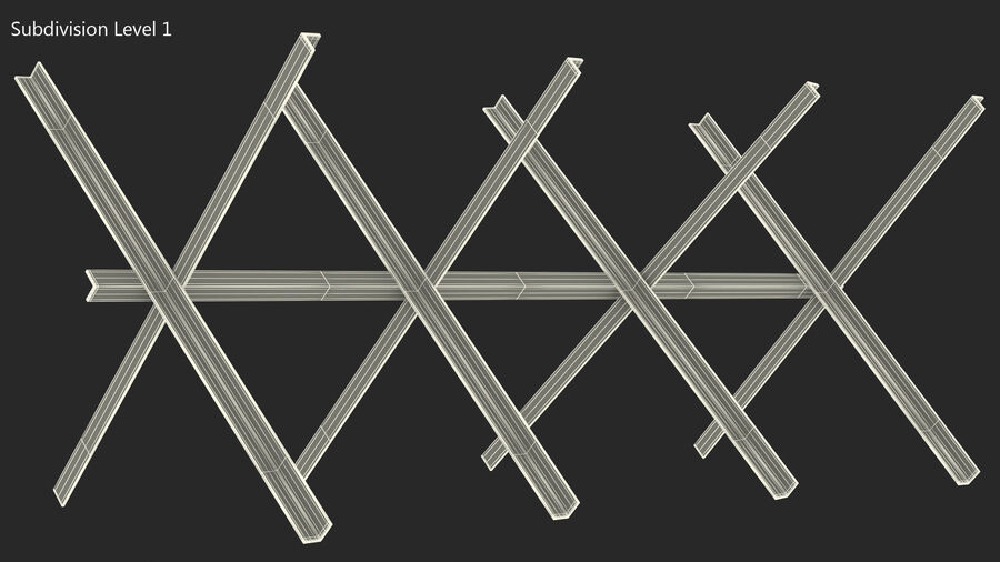Makeshift Metal Barricade Old royalty-free 3d model - Preview no. 19