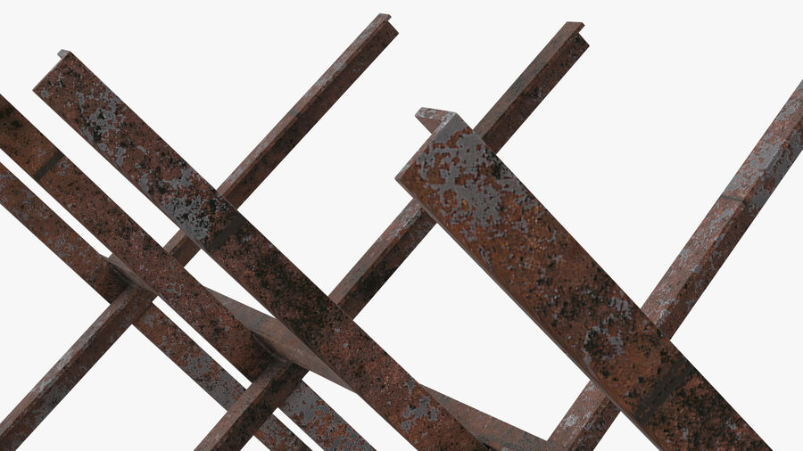 Makeshift Metal Barricade Old royalty-free 3d model - Preview no. 12
