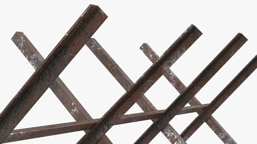 Makeshift Metal Barricade Old royalty-free 3d model - Preview no. 11