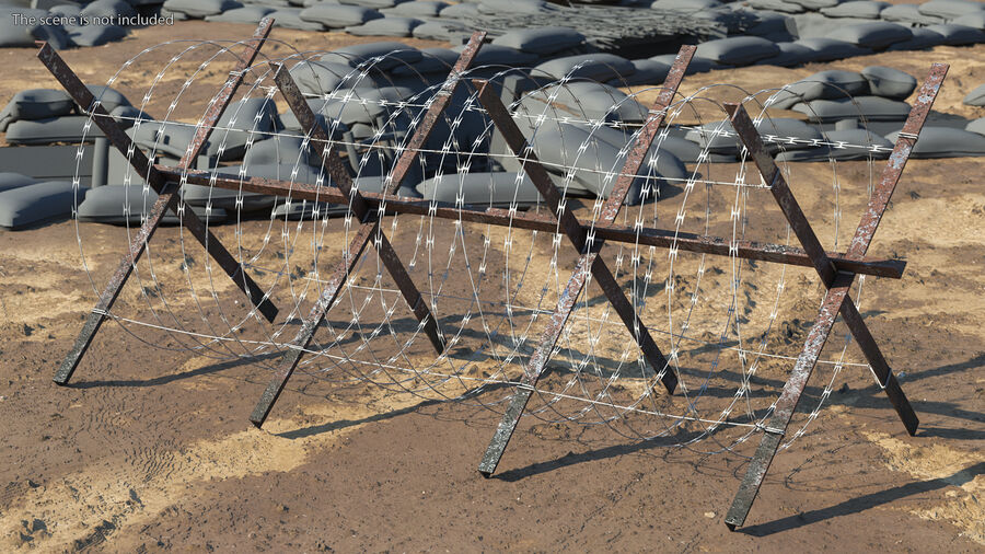 Makeshift Metal Barricade Old royalty-free 3d model - Preview no. 4